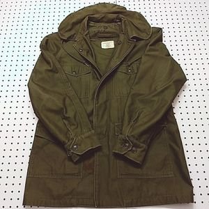 Vintage 60s Military Jacket, Size Small Long